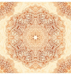 Ornate vintage seamless pattern in mehndi style vector image vector image