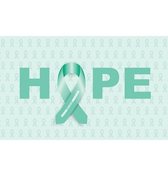 ovarian cancer ribbon vector image