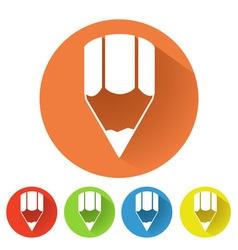 Pencil symbol vector image