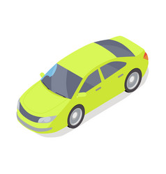 personal car icon in isometric projection vector image