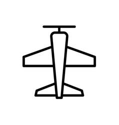 plane icon airplane icon vector image