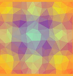 polygonal background in sunshine plum pink tones vector image