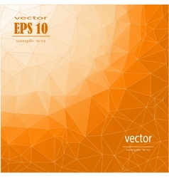polygonal orange background vector image