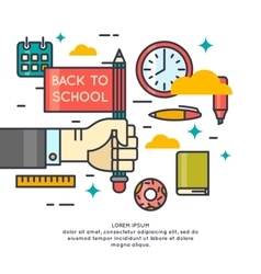 Poster Back to school vector