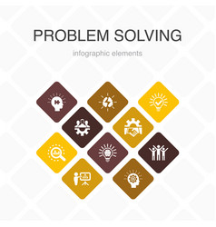 Problem solving infographic 10 option color design vector
