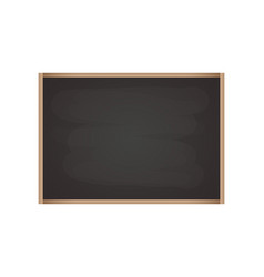 realistic blackboard with wooden frame rubbed out vector image