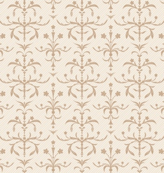 seamless beige flowers texture vector image
