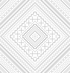 Seamless white embroidery pattern vector