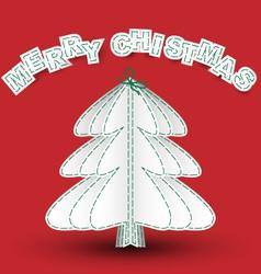 sewn merry christmas vector image