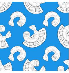 shrimp and lemon seamless pattern design element vector image