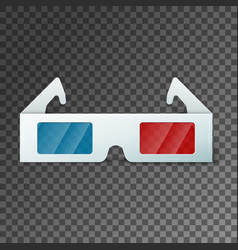 side view of a pair of 3d glasses vector image
