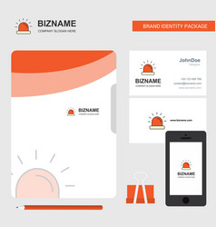 siren business logo file cover visiting card and vector image