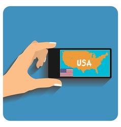 smartphone with mobile gps vector image