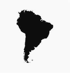 south america map - monochrome shape vector image