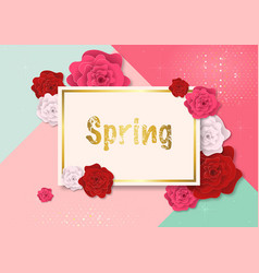 spring background with colorful roses vector image