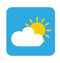 sun cloud icon vector image
