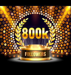 thank you followers peoples 800k online social vector image