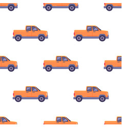Transport isolated classic pickup seamless pattern vector