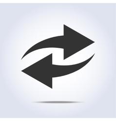 Two arrows in gray colors vector