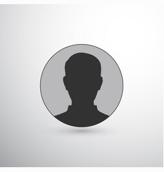 user avatar circle icon vector image