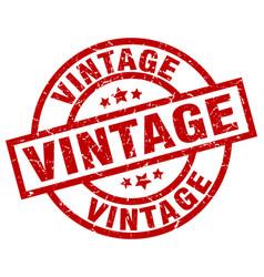 vintage round red grunge stamp vector image