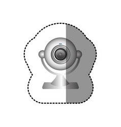 White computer camera icon vector