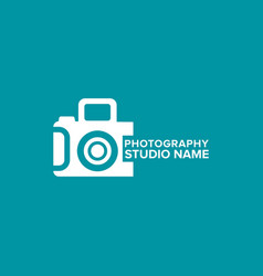 white icons for photographer on green background vector image