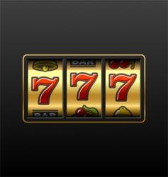 Winning in slot machine vector