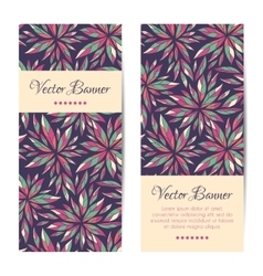 banners cards brochures set Floral vector image vector image