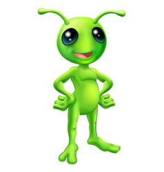 cute cartoon alien vector image
