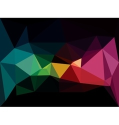 low poly background Abstract dark diamond vector image