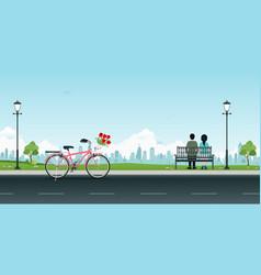 public park vector image vector image