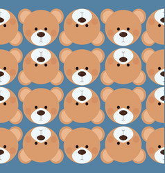 seamless pattern background tile - cute teddy bear vector image vector image