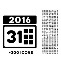 2016 Month Icon vector image vector image