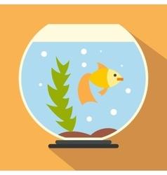 Aquarium flat icon vector image