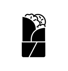 doner kebab icon black sign vector image