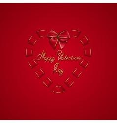 Elegant template for luxury invitation gift vector image