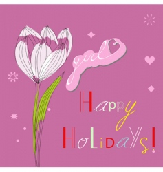 holidays for girls vector image