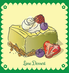 lime dessert vector image