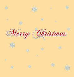 merry christmas lettering on a wooden board vector image vector image