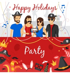 Photo Booth Party Banners Set vector image