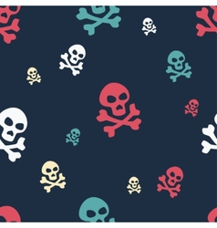 Skull Pattern Colored vector image