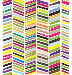 Abstract seamless textile pattern with stripes vector image