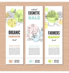 Set of banners with plants vector image vector image