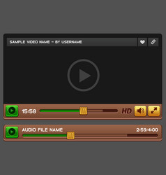 video and audio player vector image