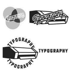 Vintage typography emblems vector