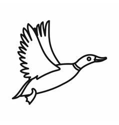 Wild duck icon outline style vector