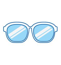 blue icon sunglasses cartoon vector image