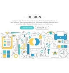 elegant thin flat line Design and Art vector image vector image