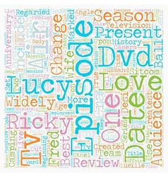 I Love Lucy Season DVD Review text background vector image